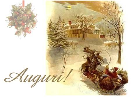 Dicembre 2009 oltre il cancello for Cartoline di auguri per natale