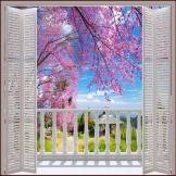 Personalizzato-Foto-Wallpaper-per-pareti-3-d-Stereo-Grandi-Murales-False-finestre-campo-di-primavera-ciliegia